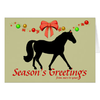 Personalized Missouri Fox Trotter Christmas Card