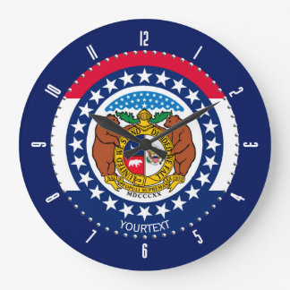 Personalized Missouri State Flag Design on a Large Clock