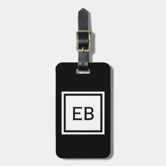 Personalized | Modern Black and White Luggage Tags