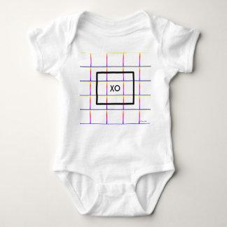 Personalized Modern Check Window Pane Pattern Baby Bodysuit