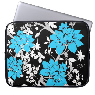 Personalized Modern floral Laptop Computer Sleeves