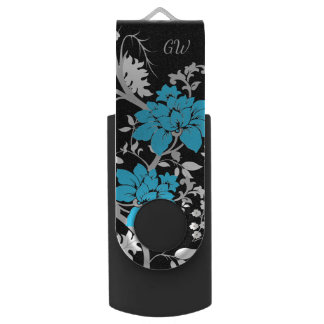 Personalized Modern floral USB Flash Drive