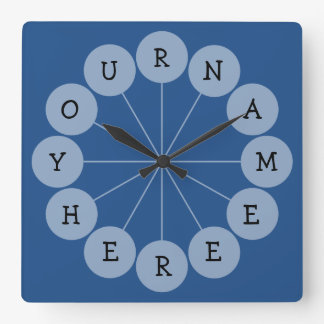 Personalized Modern Fun Name Clock