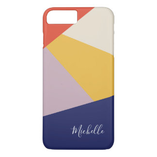 Personalized Modern Geometric Triangles iPhone 8 Plus/7 Plus Case