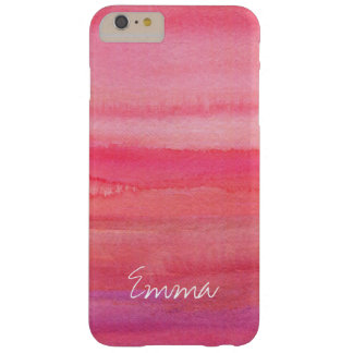 Personalized Modern Girl Pink Rose Barely There iPhone 6 Plus Case