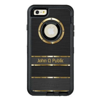 Personalized Modern Gold and Black OtterBox iPhone 6/6s Plus Case