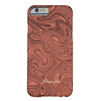 Personalized Modern Red-Black Liquid Marble Case