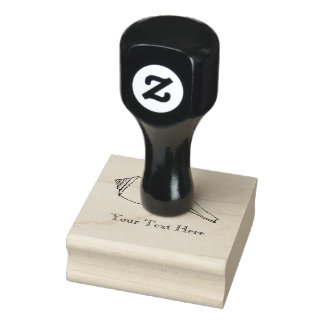 Personalized modern seashell rubber stamp