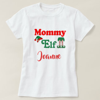 Personalized Mommy Elf T-Shirt