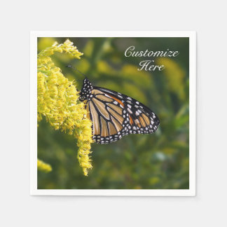 Personalized Monarch Butterfly Paper Napkin