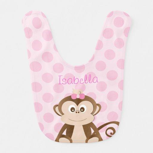 Personalized Monkey Baby Bib Bib