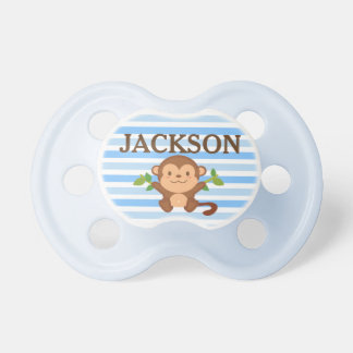 Personalized Monkey Baby Shower Gift Pacifier