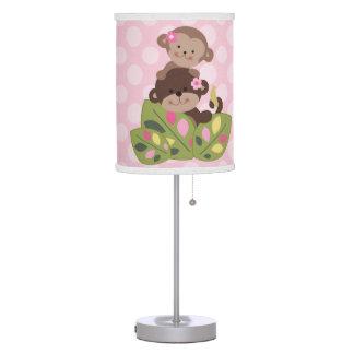 Personalized Monkey Girls Nursery Lamp