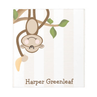 Personalized Monkey Notepad