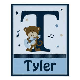 Personalized Monkey Rocker/Rockstar Name Poster