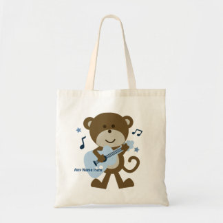 Personalized Monkey Rocker/Rockstar Tote Bag