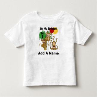 Personalized Monkey Shine 2nd Birthday Tshirt