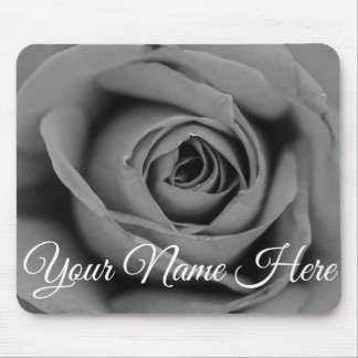 Personalized Monochromatic Love Rose Mousepad