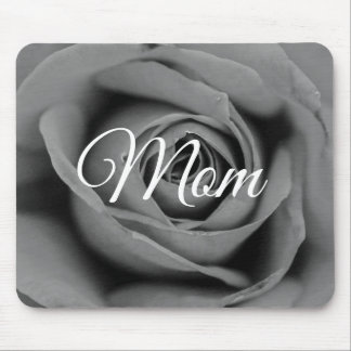 Personalized Monochromatic Mom Rose Mousepad