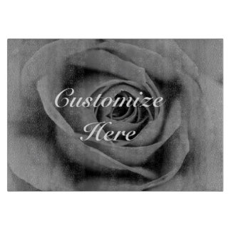 Personalized Monochromatic Rose Cutting Board