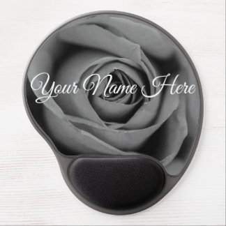 Personalized Monochromatic Rose Gel Mousepad