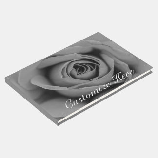 Personalized Monochromatic Rose Guestbook