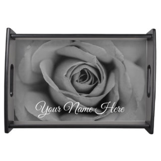 Personalized Monochromatic Rose Serving Tray
