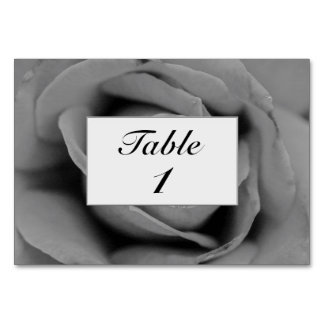 Personalized Monochromatic Rose Table Card