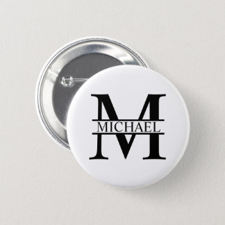 Personalized Monogram and Name 2 Inch Round Button