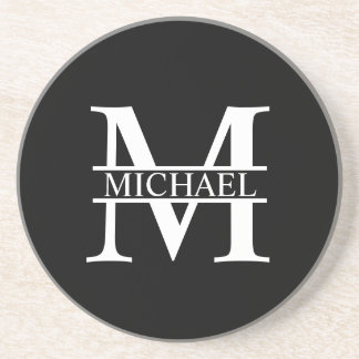 Personalized Monogram and Name Coaster