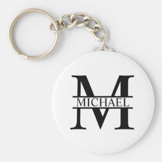 Personalized Monogram and Name Keychain