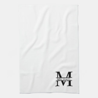 Personalized Monogram and Name Kitchen Towel