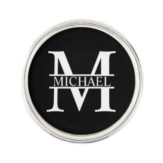 Personalized Monogram and Name Lapel Pin