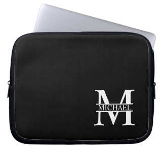 Personalized Monogram and Name Laptop Sleeve