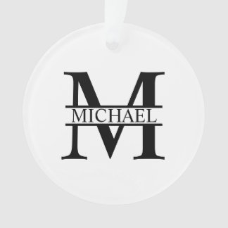 Personalized Monogram and Name Ornament