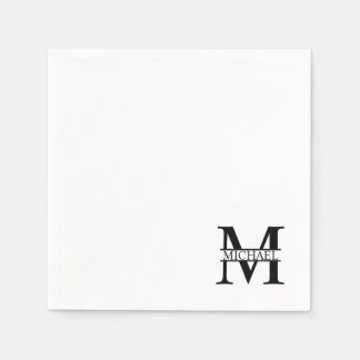 Personalized Monogram and Name Paper Napkin