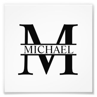 Personalized Monogram and Name Photo Print