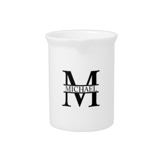 Personalized Monogram and Name Pitcher