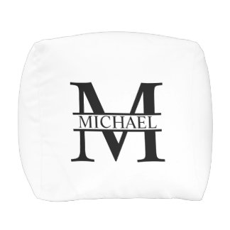 Personalized Monogram and Name Pouf