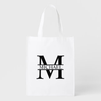 Personalized Monogram and Name Reusable Grocery Bag