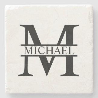 Personalized Monogram and Name Stone Coaster