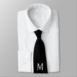 Personalized Monogram and Name Tie