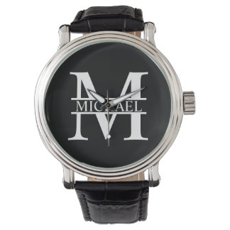 Personalized Monogram and Name Watch
