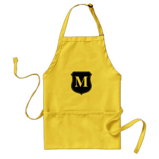 Personalized monogram BBQ apron for men