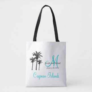 Personalized Monogram Beach Wedding Guest Tote Bag