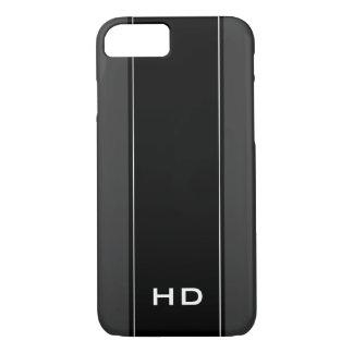 Personalized monogram black iPhone 7 case for men