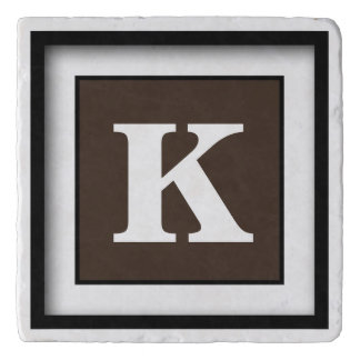 Personalized Monogram Coffee Bean Trivet