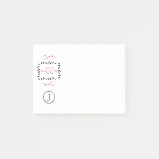 Personalized Monogram Cross Country Mom Post-it Notes