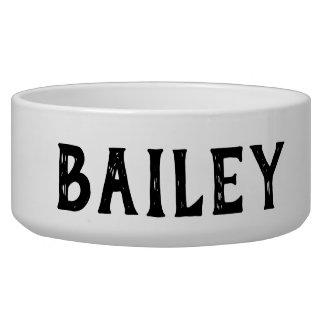 Personalized Monogram Dog Bowl