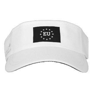 Personalized monogram EU flag European Union Visor